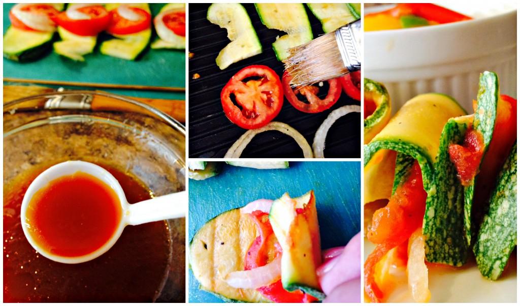 Calabazas aderezadas con salsa de soya
