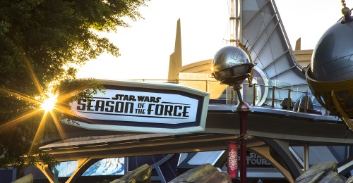 STAR WARS SEASON OF THE FORCE AT DISNEYLAND PARK -- As the Force awakens at the Disneyland Resort, Star Wars Season of the Force brings exciting new experiences to Disneyland Park to celebrate all things Star Wars. Season of the Force in Tomorrowland entertains fans of the famous film saga and guests looking forward to the future Star Wars-themed land. Among the elements entering this galaxy are Star Wars Launch Bay, an interactive space in the newly named Tomorrowland Expo Center; Star Wars: Path of the Jedi, a cinematic overview of the Star Wars saga; a new adventure in Star Tours Ð The Adventures Continue, and the reimagined attraction, Hyperspace Mountain. Opening Dec. 8, Jedi Training: Trials of the Temple enhances this popular show with new characters and a new villain. (Paul Hiffmeyer/Disneyland)