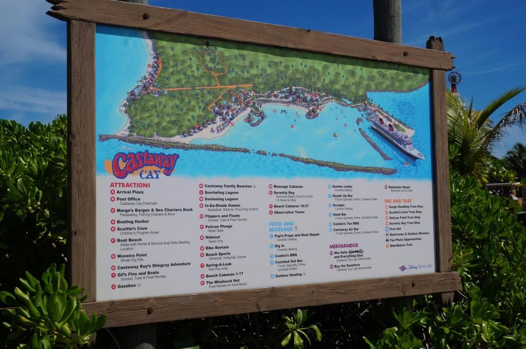 Mapa de la Isla Castaway Cay