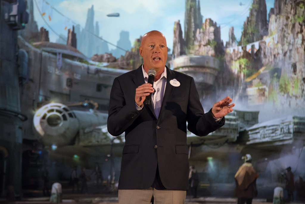 BOB CHAPEK UNVEILS STAR WARS-THEMED LAND MODEL at D23 EXPO -- During a special preview of D23 Expo 2017, Walt Disney Parks and Resorts Chairman Bob Chapek welcomed invited guests as he unveiled a first look at the epic, fully detailed model of the Star Wars-themed lands under development at Disneyland park in Anaheim, Calif. and DisneyÕs Hollywood Studios in Orlando, Fla. This stunning exhibition remains on display in Walt Disney Parks and ResortsÕ 'A Galaxy of Stories' pavilion throughout D23 Expo at the AnaheimÊConvention Center. (Joshua Sudock/Disney Parks)
