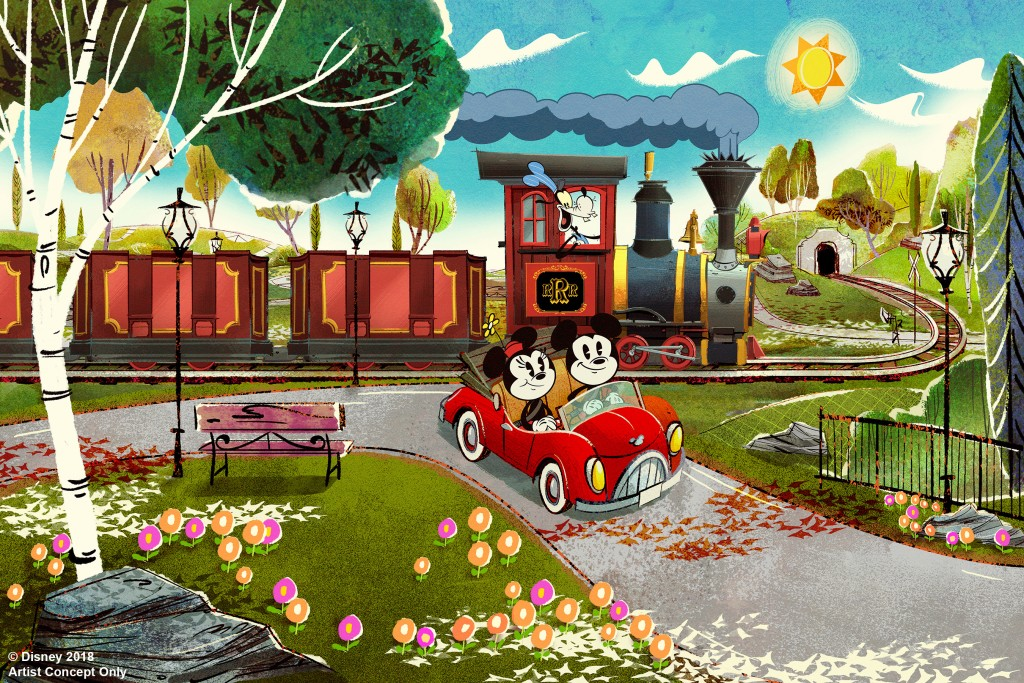 Walt Disney World Resort guests will step through the movie screen and join Mickey and pals on a wacky adventure set to open at Disney's Hollywood Studios in Florida in 2019. Mickey & Minnie's Runaway Railway, the first-ever ride through attraction themed to Mickey and Minnie Mouse, will feature dazzling visual effects, a lovable theme song, and twists and turns ideal for the whole family.
