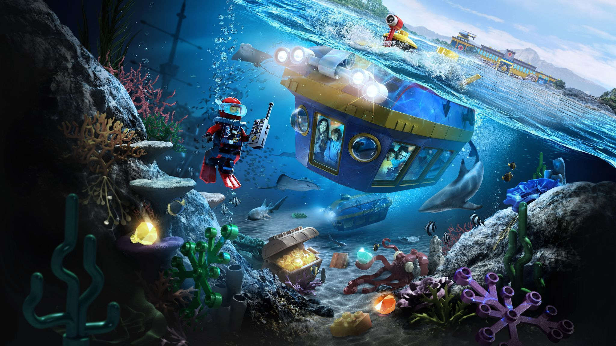 LEGO CITY ®: Deep Sea Adventure submarine ride