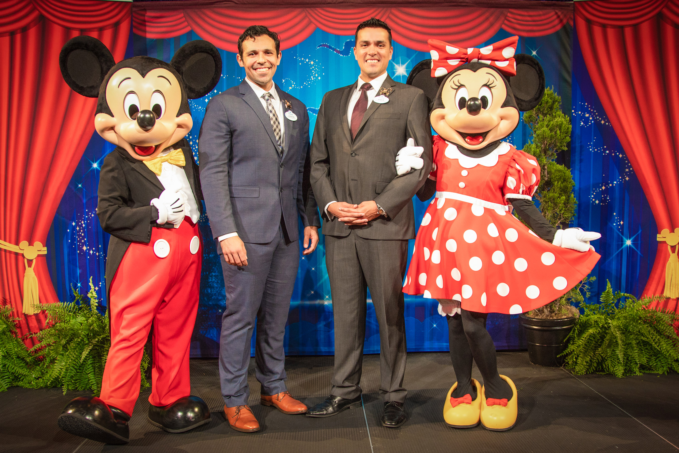 Disneyland Resort 2019-2020 Ambassador Team  In a tradition dating back to 1965, Disneyland Resort President Josh D'Amaro announced that cast members Justin Rapp and Rafa Barron will represent the Disneyland Resort and its 30,000 cast members as the 2019-2020 Disney Ambassadors. (Disneyland Resort)