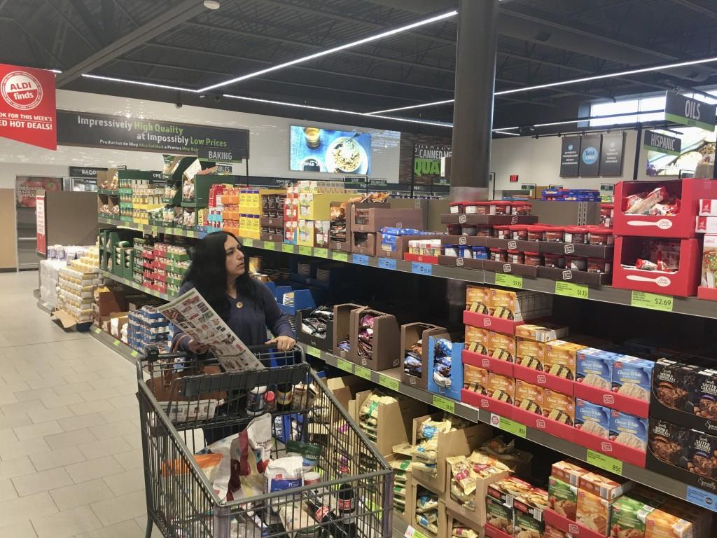 De compras en ALDI
