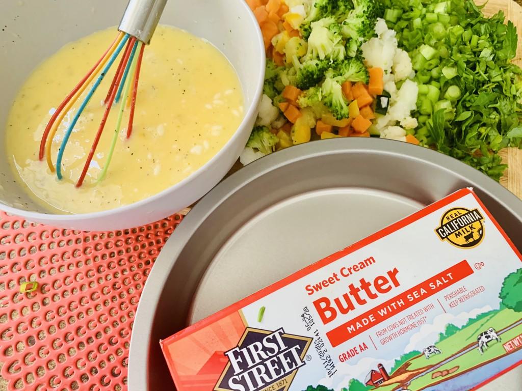 Cacerola de verduras y queso